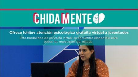 Ofrece Ichijuv atención psicológica gratuita virtual a juventudes