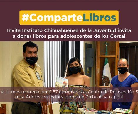 Invita Instituto Chihuahuense de la Juventud a donar libros para adolescentes de los Cersai