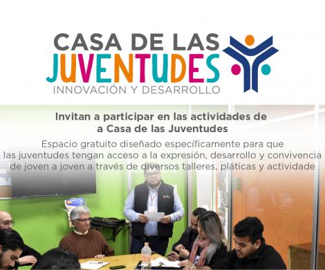 Invitan a participar en las actividades de la Casa de las Juventudes