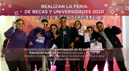 Realizanla Feria de Becas y Universidades 2020